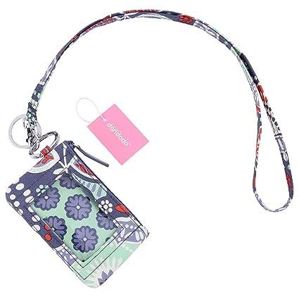 78b3b91b9630 dandodo Card Holder ID Case Badge Neck Strap Lanyard (010Navy)