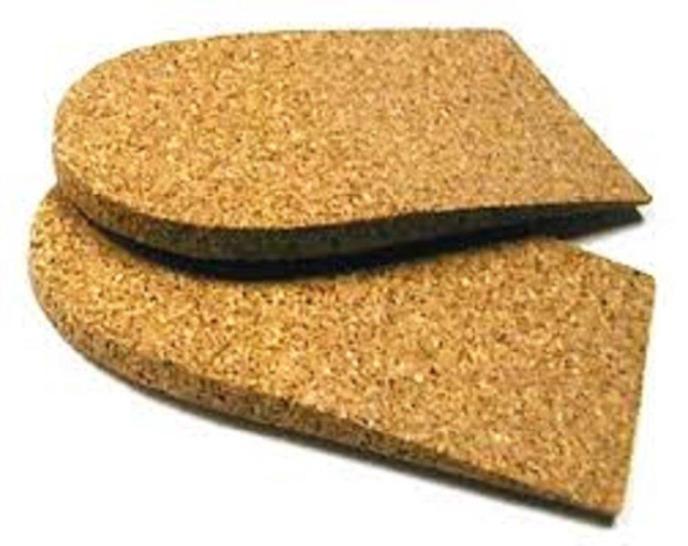 1/4'' (6mm) Cork Heel Lift, 10 Pack, Medium (2 1/2'' wide) by Atlas Biomechanics