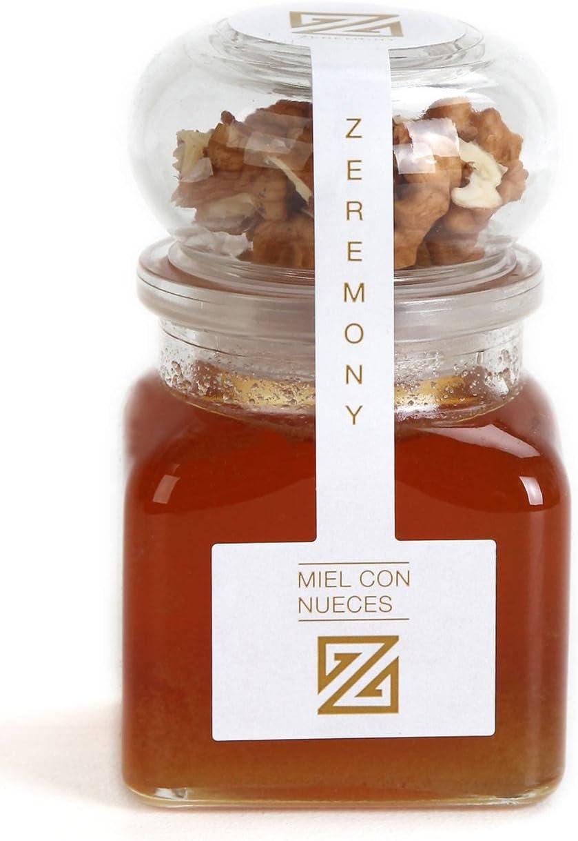 Pack de tarro cuadrado de Miel multi floral con Nueces de Zeremony para invitados (Pack 24 ud): Amazon.es: Hogar
