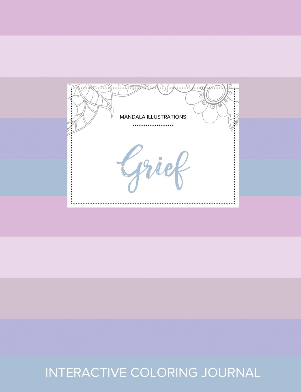 Adult Coloring Journal: Grief (Mandala Illustrations, Pastel Stripes) pdf