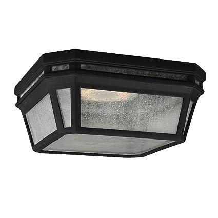 Feiss Ol11313bk Led Londontowne Led Marine Grade Outdoor Flush Mount Ceiling Lighting Black 1 Light 12 W X 5 H