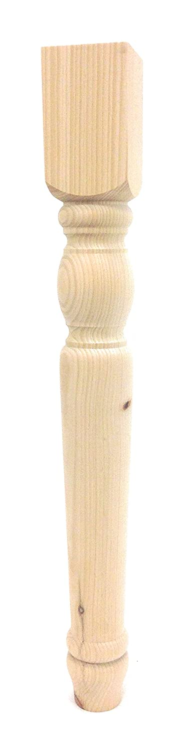 """Cheshire Dining Table Leg - 29"""" Tall x 3.5"""" Wide (Pine)"""