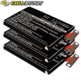 3x Exell Li-Polymer 3.8V Battery Fits LG E960 E970 E971 E973 E975 F180 Sprint LS970 Mako Nexus 4 16GB Optimus G Tablets Replaces EAC61898601, BL-T5