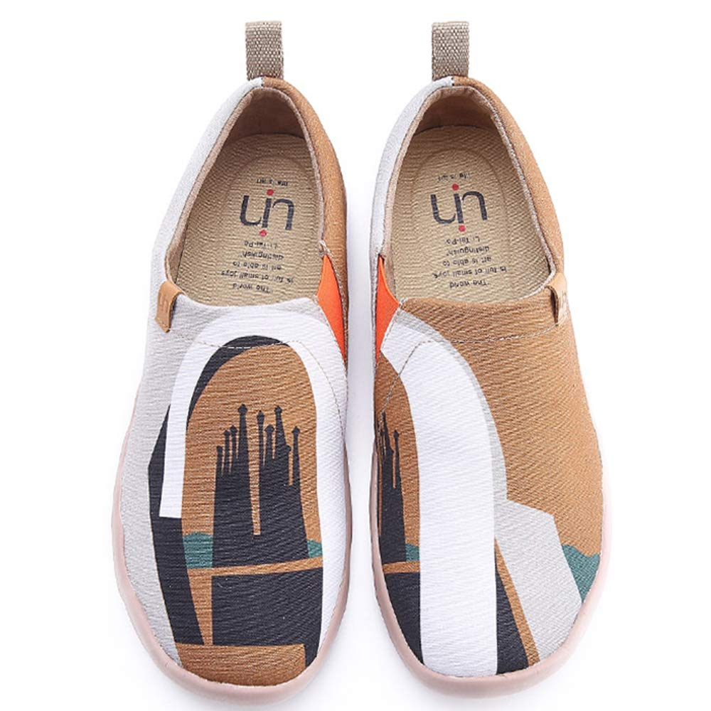 UIN Men's Dreamer Comfort Canvas Travel Shoes Brown (9.5)