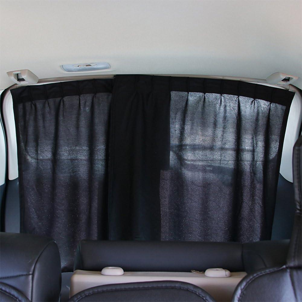 WINOMO 2Stk finestra laterale auto protezione solare tende UV Parasole drappo finestra Schild Nero