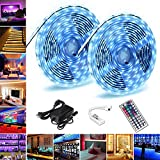 Led Strip Light,Casacop 10M/32 ft led Lights IP65 Waterproof 5050 SMD RGB Flexible Led Strip Kit with 44IR Remote Controller for Home,Kitchen and Bedroom Decoration.