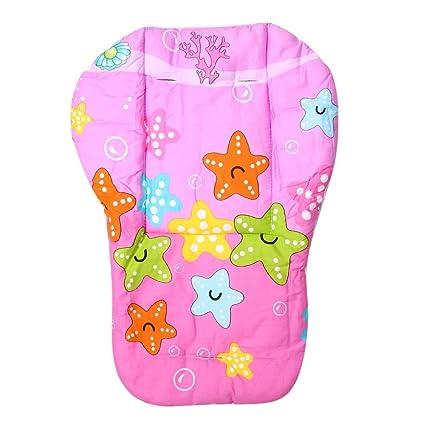 Carrito de bebé cojín completo algodón engrosamiento transporte paraguas carro Dibujos Animados asiento maletero