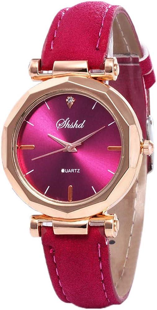 Bravetoshop Women Simple Watches,Luxury Analog Quartz Crystal Wristwatch for Girls