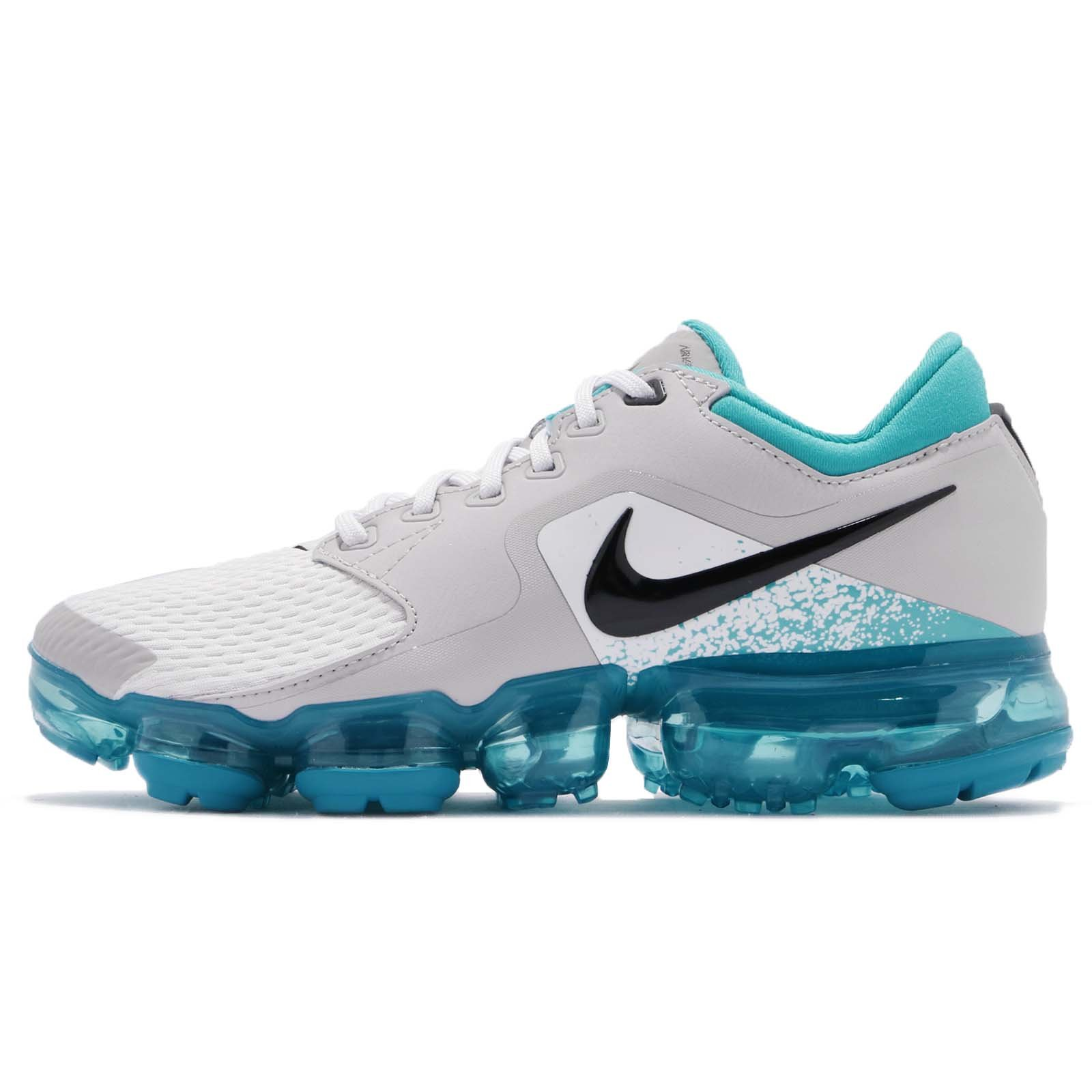 NIKE Kid's Air Vapormax GS, Vast Grey/Black-Dusty Cactus, Youth Size 6.5