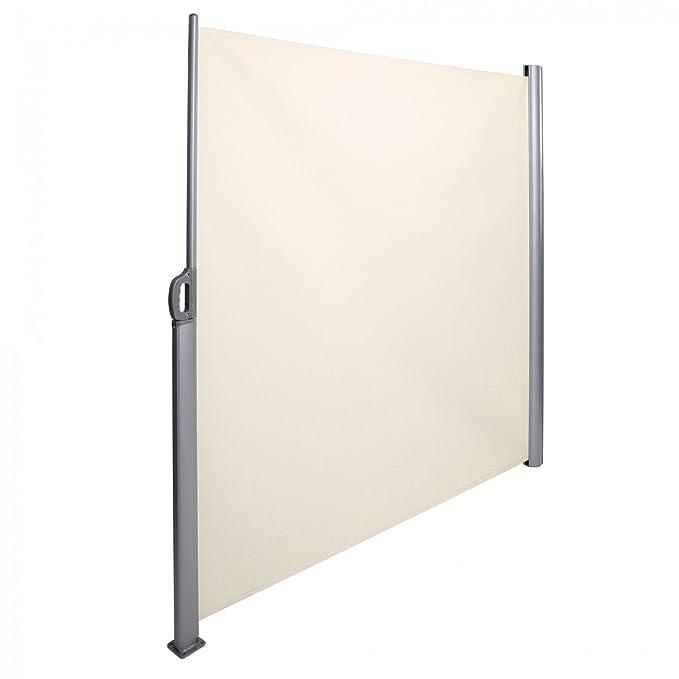 Strattore Seitenmarkise Sonnenschutz Sichtschutz Windschutz Markise Terasse Alu 180x300 cm Creme