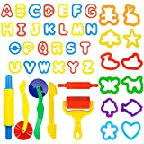 Deardeer 44 Pieces Play Dough Tools Set with Molds and Models Art Dough Play Set for Children Kids