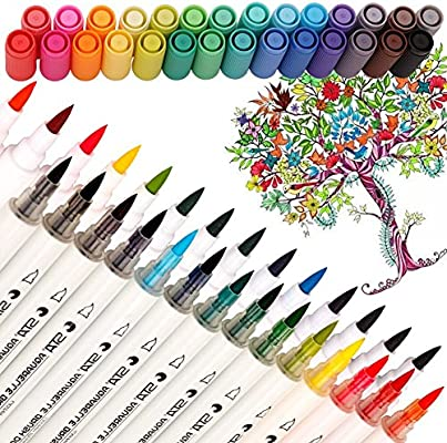 amazon com dual tip watercolor brush markers pandafly non toxic