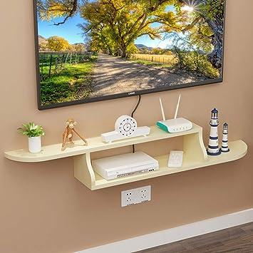 LBYMYB Repisa Flotante de TV Estante para televisor decodificador TV Consola de la Sala Dormitorio TV decoración de la Pared decoración de Muebles Marco de Pared (Color : D): Amazon.es: Hogar