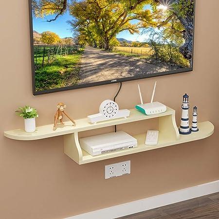 FLYSXP Repisa Flotante de TV Estante para televisor decodificador TV Consola de la Sala Dormitorio TV decoración de la Pared decoración de Muebles Mueble para TV de Pared (Color : D): Amazon.es: