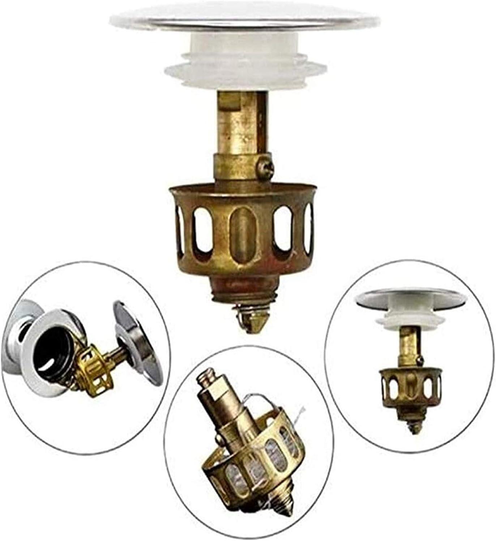2pcs Universal wash Basin Bounce Drain Filter,Wash Basin Sink Sink Basin Drain core Accessories