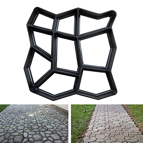 Dependable Manually Paving Cement Brick Stone Road Paving Mold Diy Plastic Path Maker Mold Concrete Molds Tool For Garden Paving Accessory Reputation First Paving Molds Garden Supplies