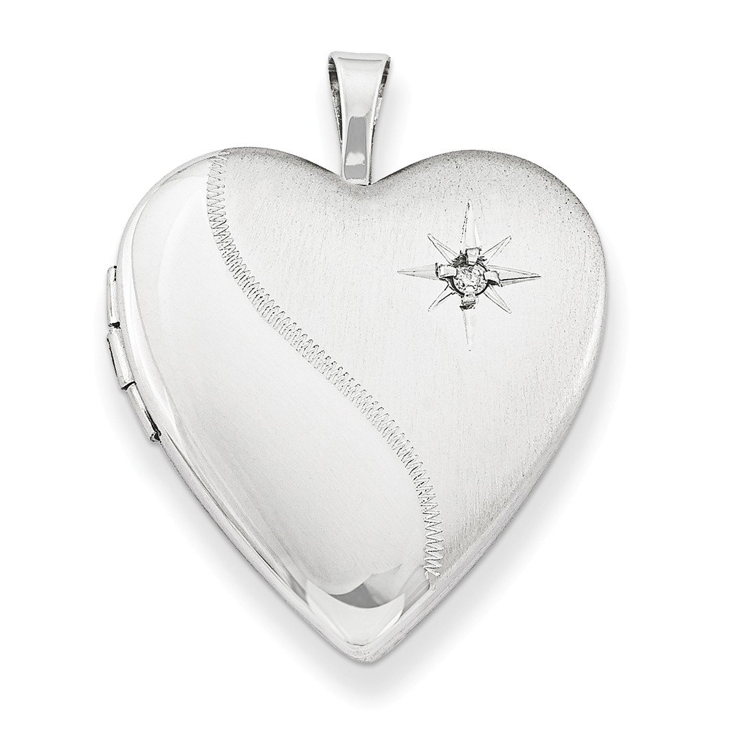 ICE CARATS 925 Sterling Silver 20mm Diamond Heart Photo Pendant Charm Locket Chain Necklace That Holds Pictures W/chain Fine Jewelry Ideal Gifts For Women Gift Set From Heart