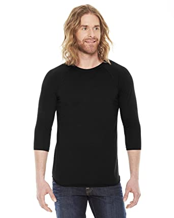 Amazon.com: American Apparel BB453 - Unisex Poly-Cotton 3/4-Sleeve ...