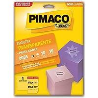 Etiqueta ink-jet/laser Carta 279, 4x215, 9 transparente 85 Pimaco, BIC, 874809, Transparente, pacote de 10