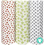 Muslin-Swaddle-Blankets-Unisex-Organic-Bamboo-for-Baby-Set-of-3-Swaddles-for-Boys-and-Girls-Soft-Swaddling-Receiving-Sleep-Blankets-Unisex-Infant-Toddler-Gender-Neutral-Gift-Baby-Hat