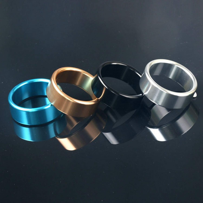 Axsdw Tshirt Sexrttt C'O-Ck' Ring Adult Sexrttt Toys New Thicker Metal Aluminum Pênǐs Rings Male C'O-Ck' Ring Delayed Casing Delay Lock Loops Adult Product Sexrttt Toys for Men,Black,50mm
