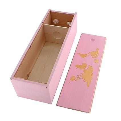 Amazon.com: Caja de madera para vino de boda, caja de regalo ...