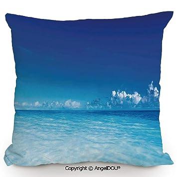 Amazon.com: AngelDOU Funda de almohada decorativa de lino y ...