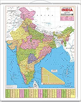 Latest India Map.Buy Latest Political Map Of India Book Online At Low Prices In India
