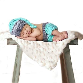 Amazon.com   Feiuruhf Newborn Baby Girl Boy Crochet Knit Hat Costume ... 378a81e2e9