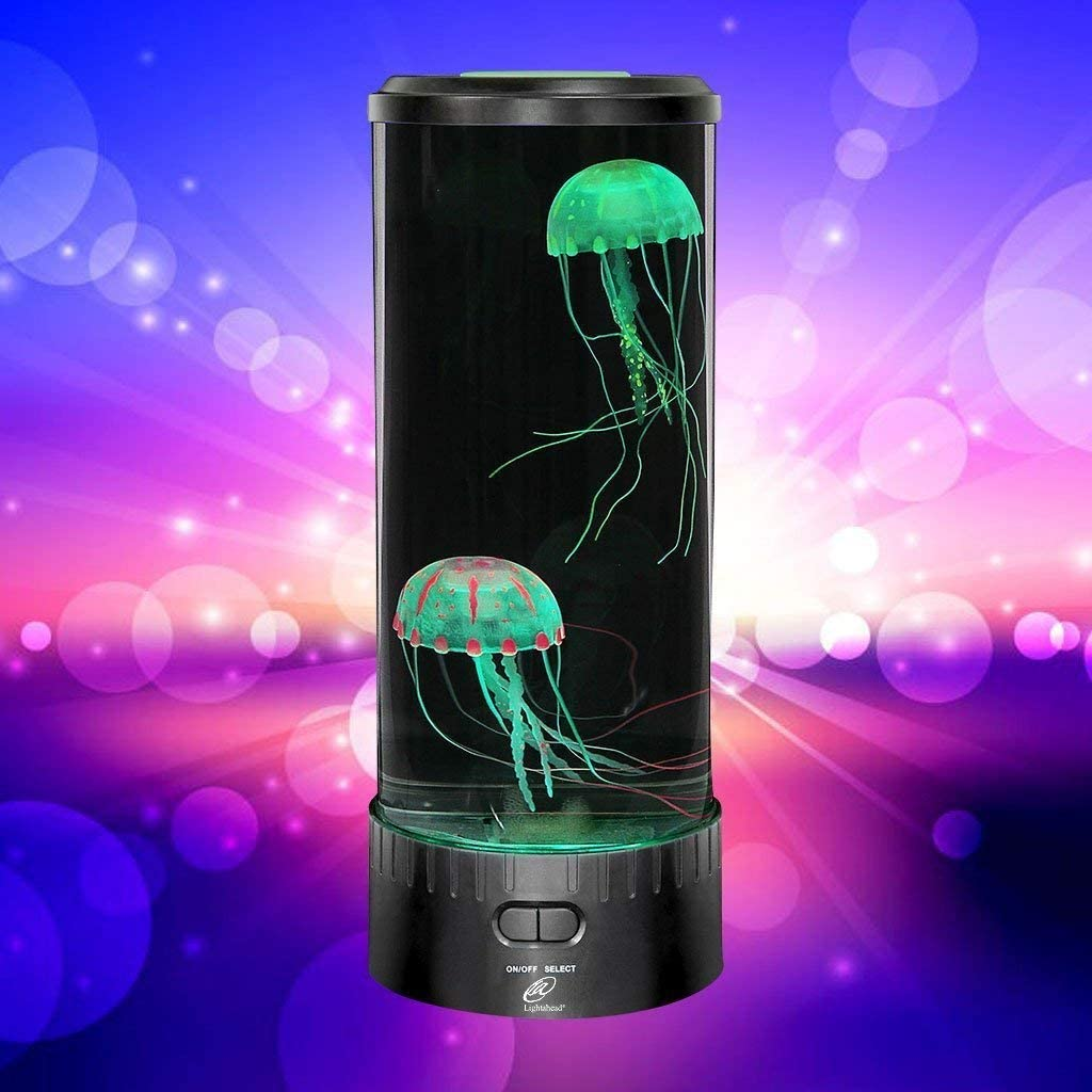 LED Fantasy Quallen Lampe Aquarium Aquarium Stimmungslampe Desktop Runde Quallen Lampe f/ür die Dekoration 7 Farbe Nachtlicht