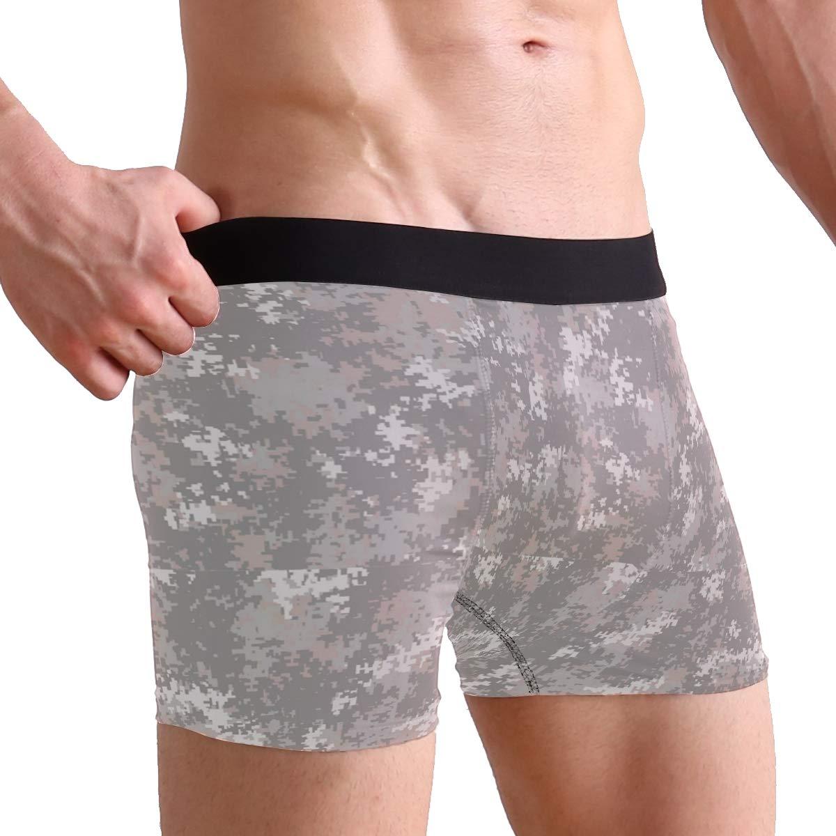 Charlley Lee Mens Soft Breathable Silver Camo Desert Underwear Boxer Briefs