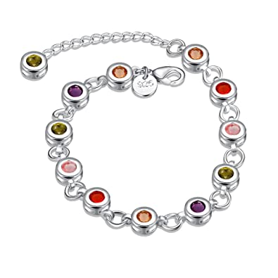 Jewellery & Watches Costume Jewellery Ladies Silver Fashion Bracelet Pretty And Colorful