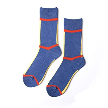 Huyizhi Calcetines Deportivos para Hombres Calcetines de Moda de los Hombres Color sólido Transpirable elástico Antideslizante