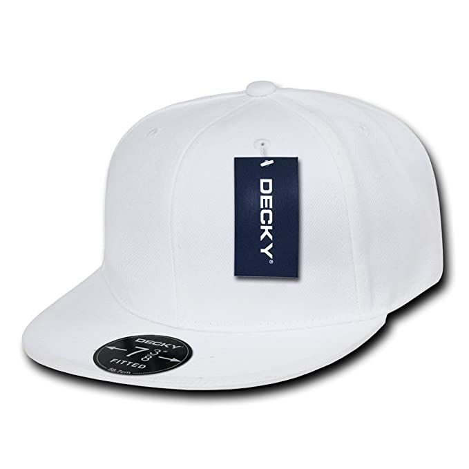 Decky Fitted Retro-Gorro Ajustado, Talla 22, Color Blanco, Hombre ...