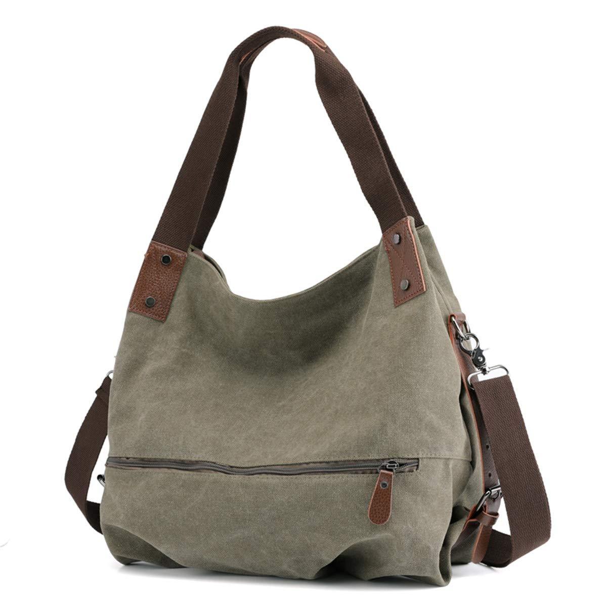 SJMMBB Women's Bag, Canvas Bag, Satchel, Fashion Satchel Satchel Bag,Green,31X40X17Cm