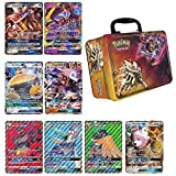 5 Oversized Jumbo GX Pokemon Cards with Collectors Chest Tin