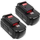 2 Pack 3.0Ah Ni-CD PC18B Replacement for Porter Cable 18V Battery PCC489N PC18B PC18BLEX PCMVC PCXMVC Cordless Drill…