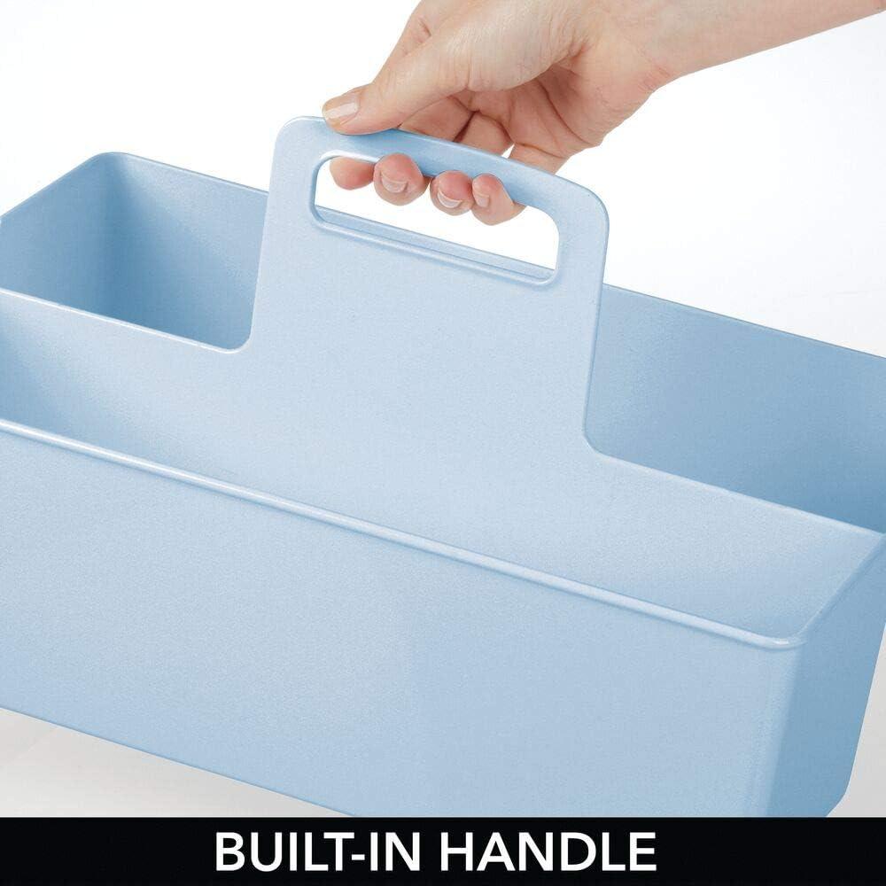 cremefarben BPA-freier Kunststoffbeh/älter mit 2 F/ächern f/ür Spielzeug Windeln extragro/ße Sortierbox mit praktischem Griff Stofftiere /& Co mDesign Kinderzimmer Organizer ohne Deckel