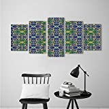 Modern Decorative Artwork Arabian Traditiona Architecture in African Islamic East Style with Carving and Photo Extralong Multi Home Decorations for Living Roo 5 Panels