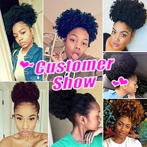 Gx Beauty Ponytail Afro Puff Ponytail For Natural Hair Synthetic