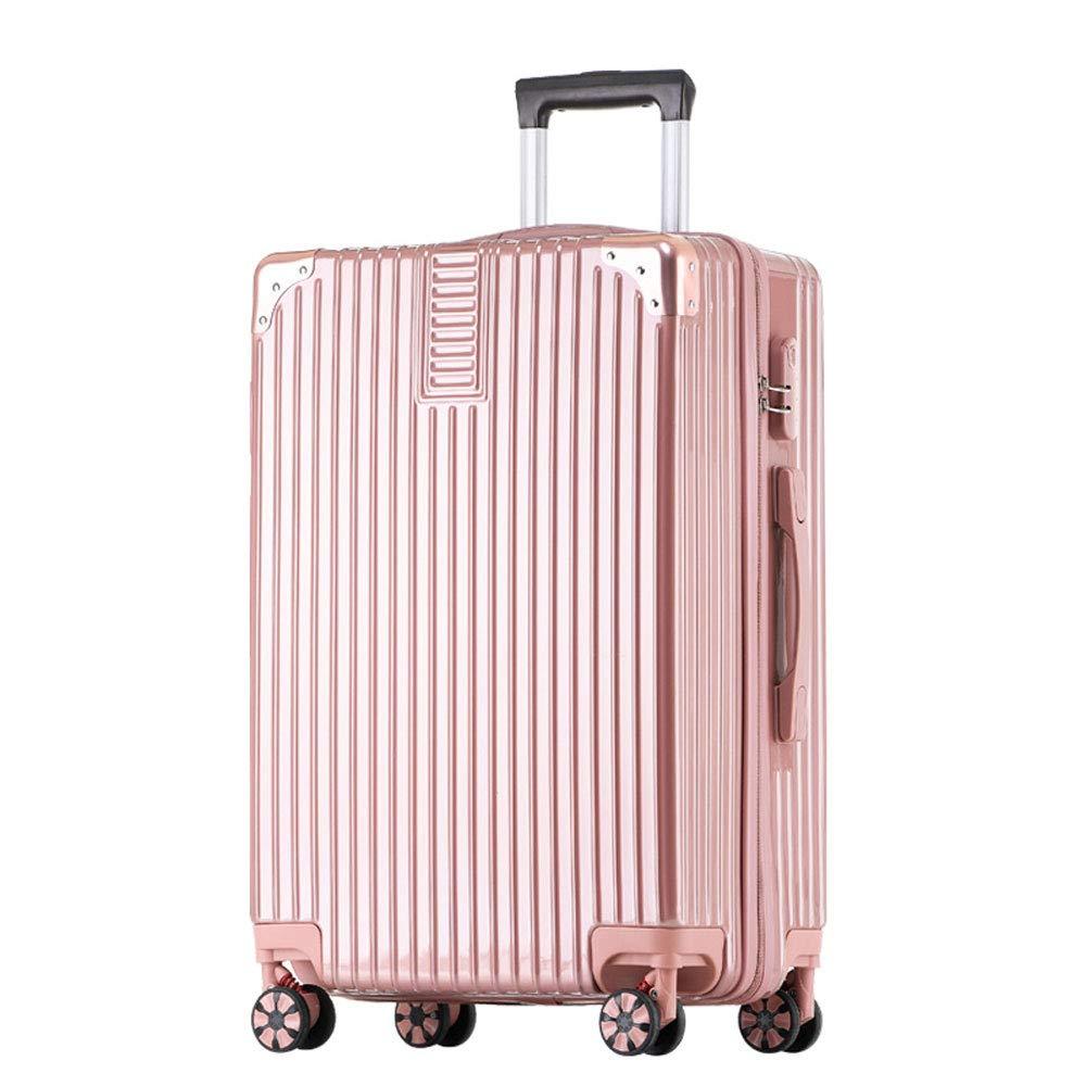 YD スーツケース トロリーケース - ABS/PC、アルミ合金製の縁取り、調節可能なレバー、スタイリッシュで小さくてレトロな光沢のある普遍的なキャスターの学生大容量パスワードスーツケース - 4色、2サイズあり /& (色 : ローズゴールド, サイズ さいず : 41.5*26*60.5cm) 41.5*26*60.5cm ローズゴールド B07MXC4L3L