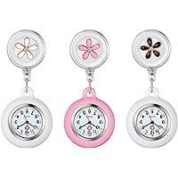 Lancardo Reloj Enfermera con Decoración Floral Reloj