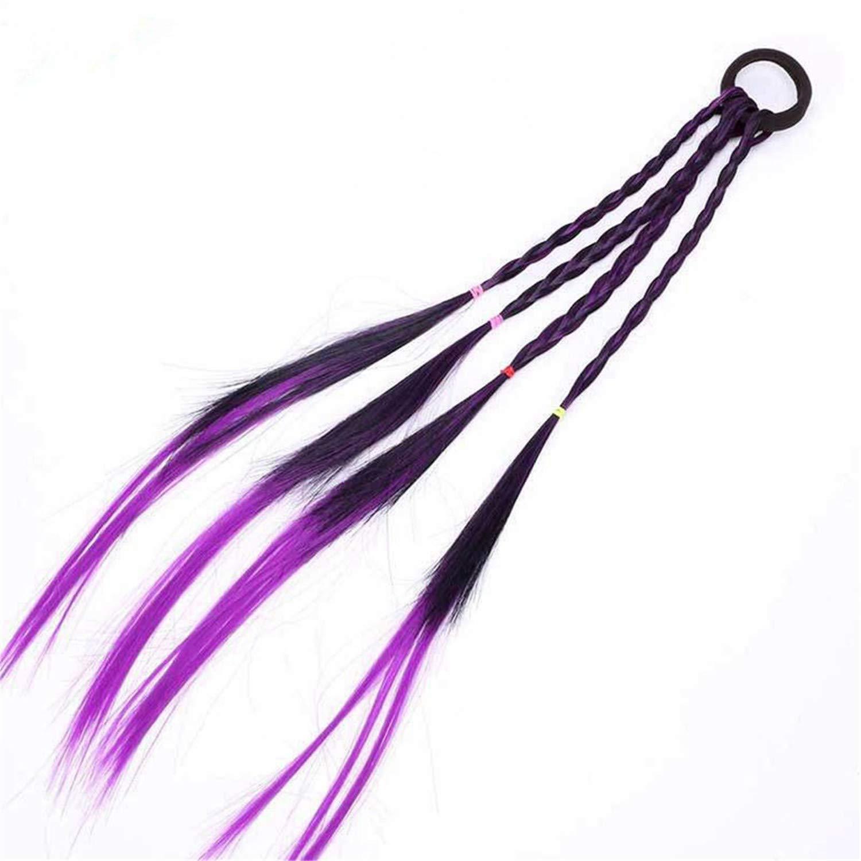 Women Fashion Headband Girls Twist Braid Rope Simple Rubber Band Kids Hair Wigs