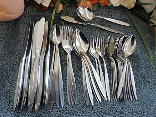 1881 Rogers Oneida - Vintage 18/8 USA Oneida 1881 Rogers Stainless Flatware FANTASY 39pcs Nice Lot Place Settings Excellent