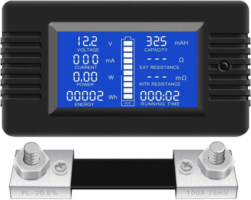 LCD Display Dc Batterie Monitor Meter 0V ~ 200V Voltmeter für Rv Solar Auto