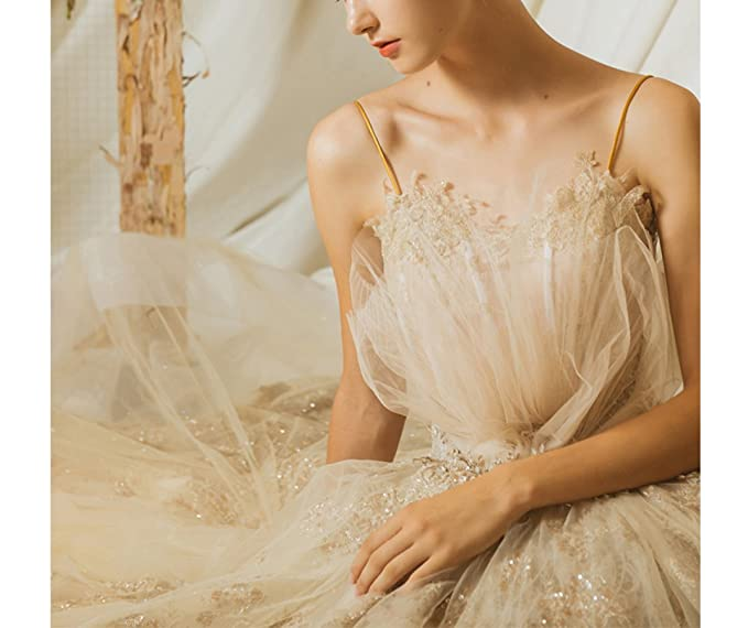 WLG Vestido de Boda Superior del Tubo 2018 Princesa de la Boda de la Novia Corte de Estilo Europeo Cola Larga sueños Sensen Mujer Delgada: Amazon.es: ...