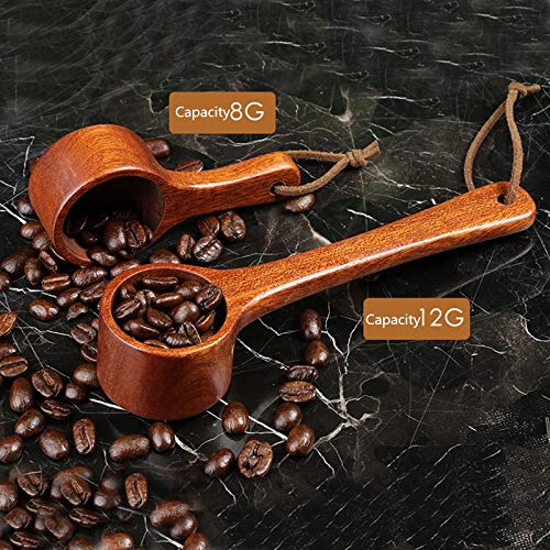 Best Quality - Coffee Scoops - Wooden Coffee Scoop 8g/12g Retro Tea Coffee Beans Measuring Spoon Barista Tools Long/Short Handle Kitchen Tools - by SeedWorld - 1 PCs