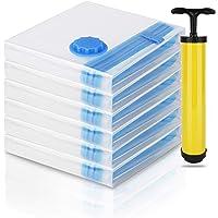 6-Pack Medium Reusable Space Saver Vacuum Seal Storage Bags