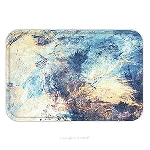 Franela de microfibra antideslizante suela de goma suave absorbente Felpudo alfombra alfombra alfombra unidad de elementos color fondo dinámico con efecto brillante pintura 615946346futurista moderno de iluminación para interior/