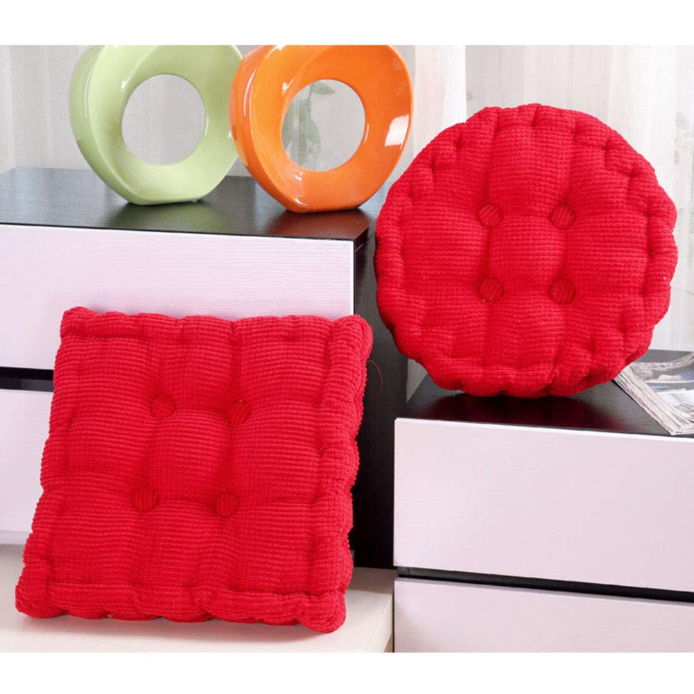 Wayward Carr/é Rond Coussins D/'Assise,Solid Color Coussins De Chaise Pack 2,/Épaissir Milleraies Fesses Coussin De Chaise Tatami Office Bourr/é-Rose 20 20in